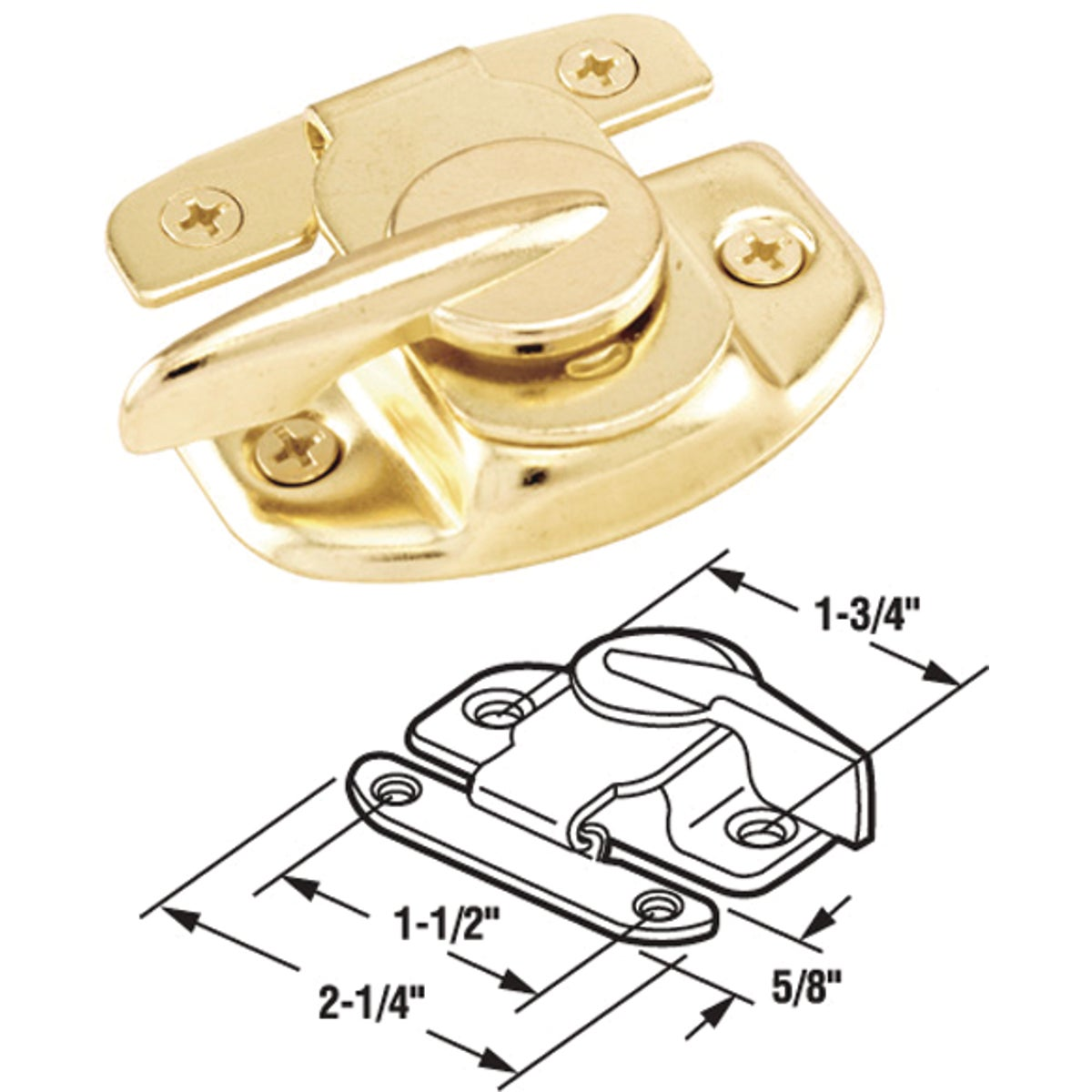 SLIDING WINDOW SASH LOCK - 17573 by Prime Line Products