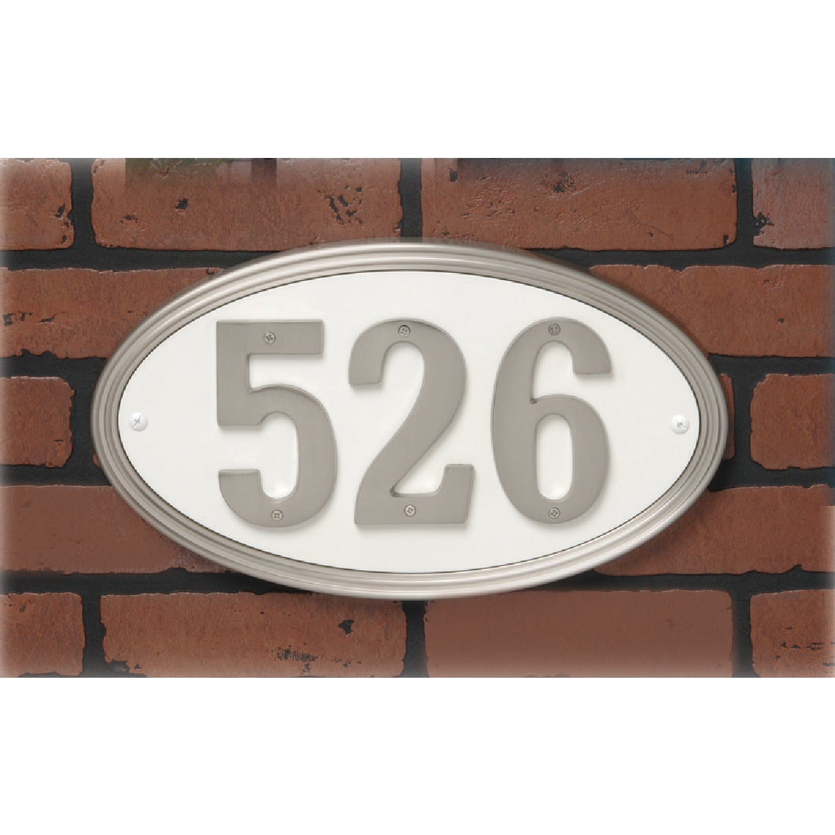 SN OVAL ADDRESS PLAQUE - AK-451 by Hy Ko Prods Co