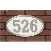 Sn Oval Address Plaque