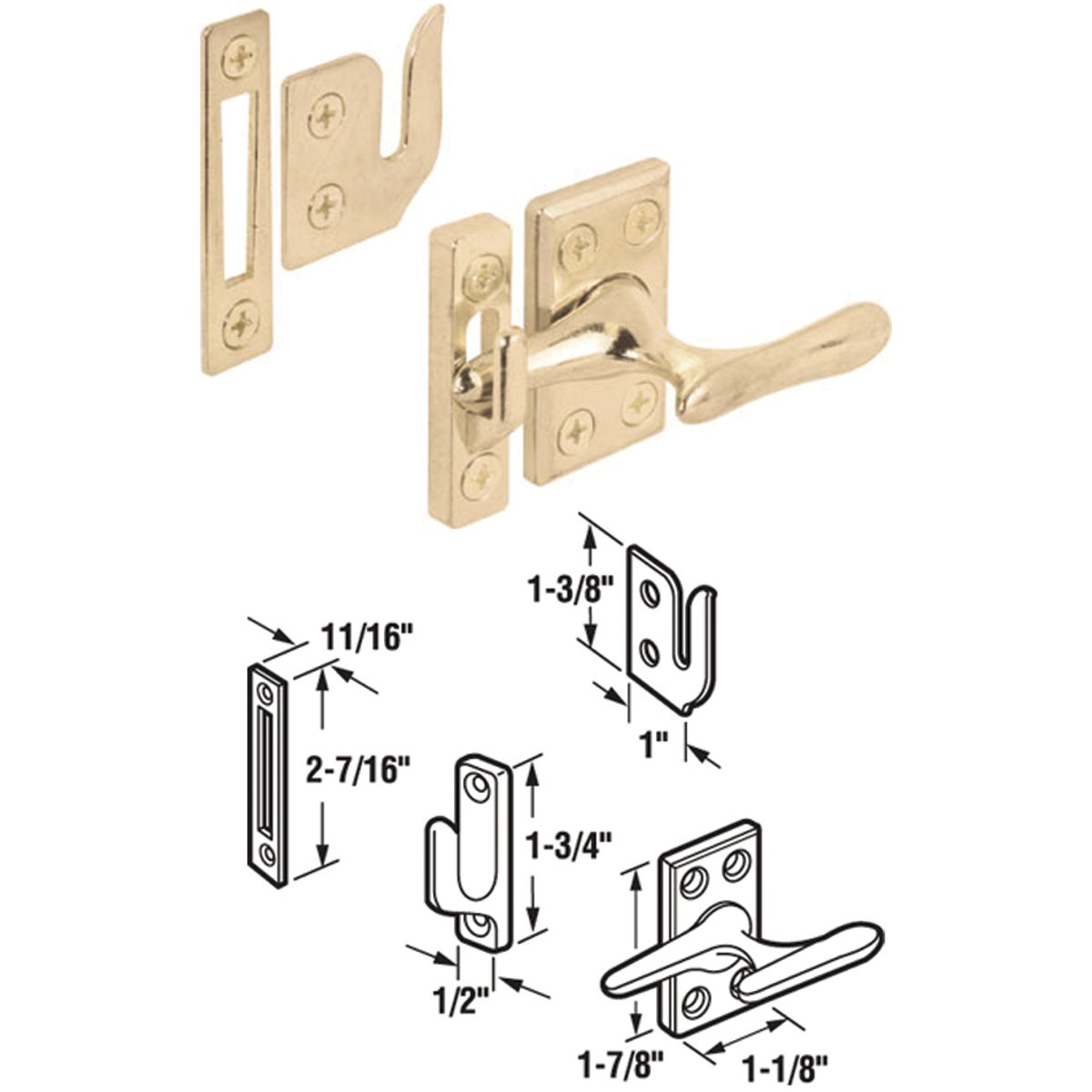 WINDOW SASH LOCK - 171857 by Prime Line Products