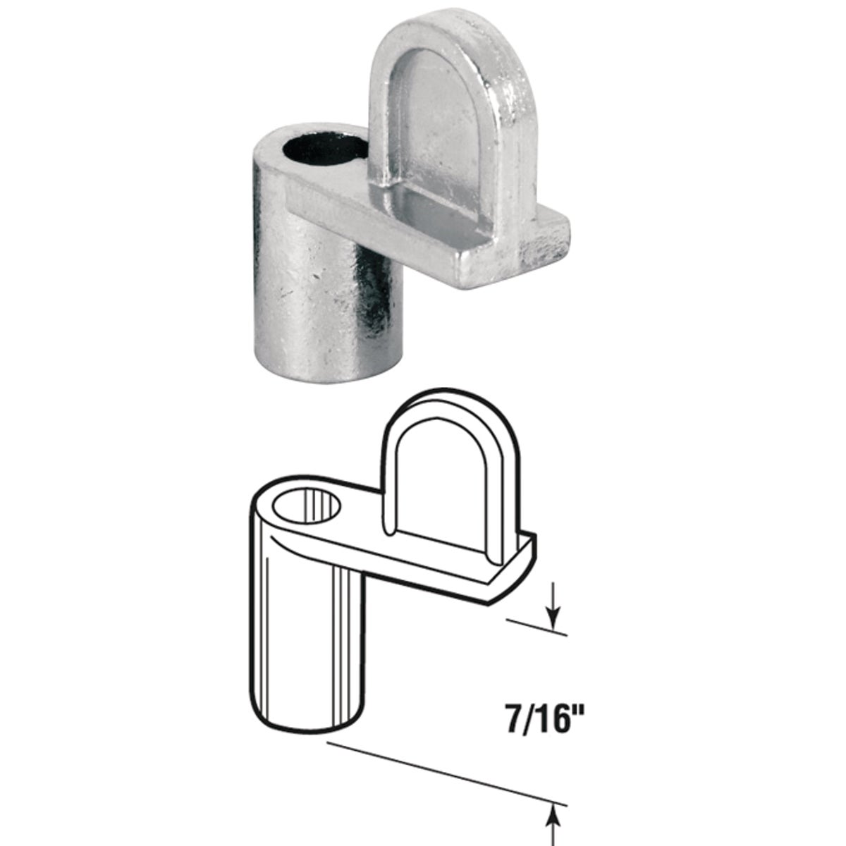 "7/16""WINDOW SCREEN CLIPS - 18107-7 by Prime Line Products"