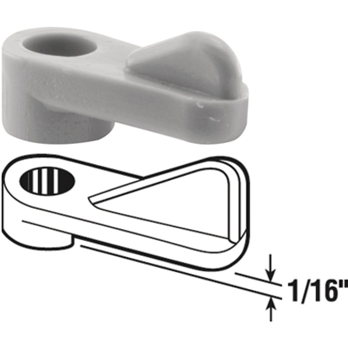 "1/16""WINDOW SCREEN CLIPS - 182932-1 by Prime Line Products"