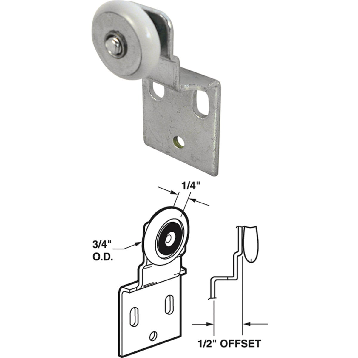 WARDROBE ADJUST BRACKET - 16202-B by Prime Line Products