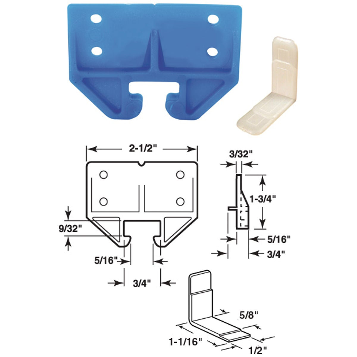 DRAWER TRACK GUIDE KIT - 22458 by Prime Line Products