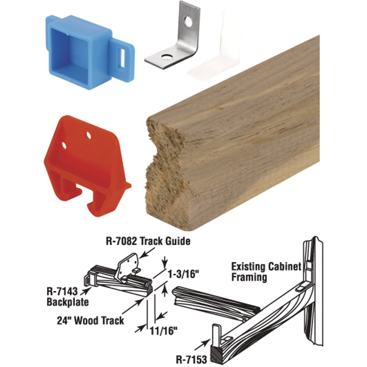 WOOD DRAWER TRACK - 221377 by Prime Line Products