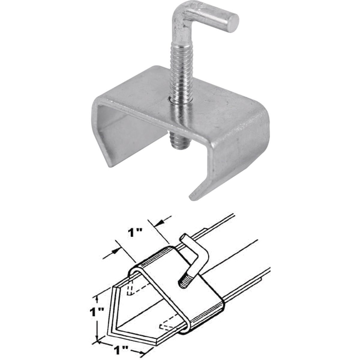 "1"" BED FRAME RAIL CLAMP"