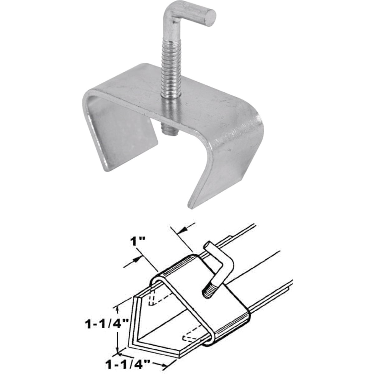 "1-1/4"" BEDFRM RAIL CLAMP - 241948 by Prime Line Products"
