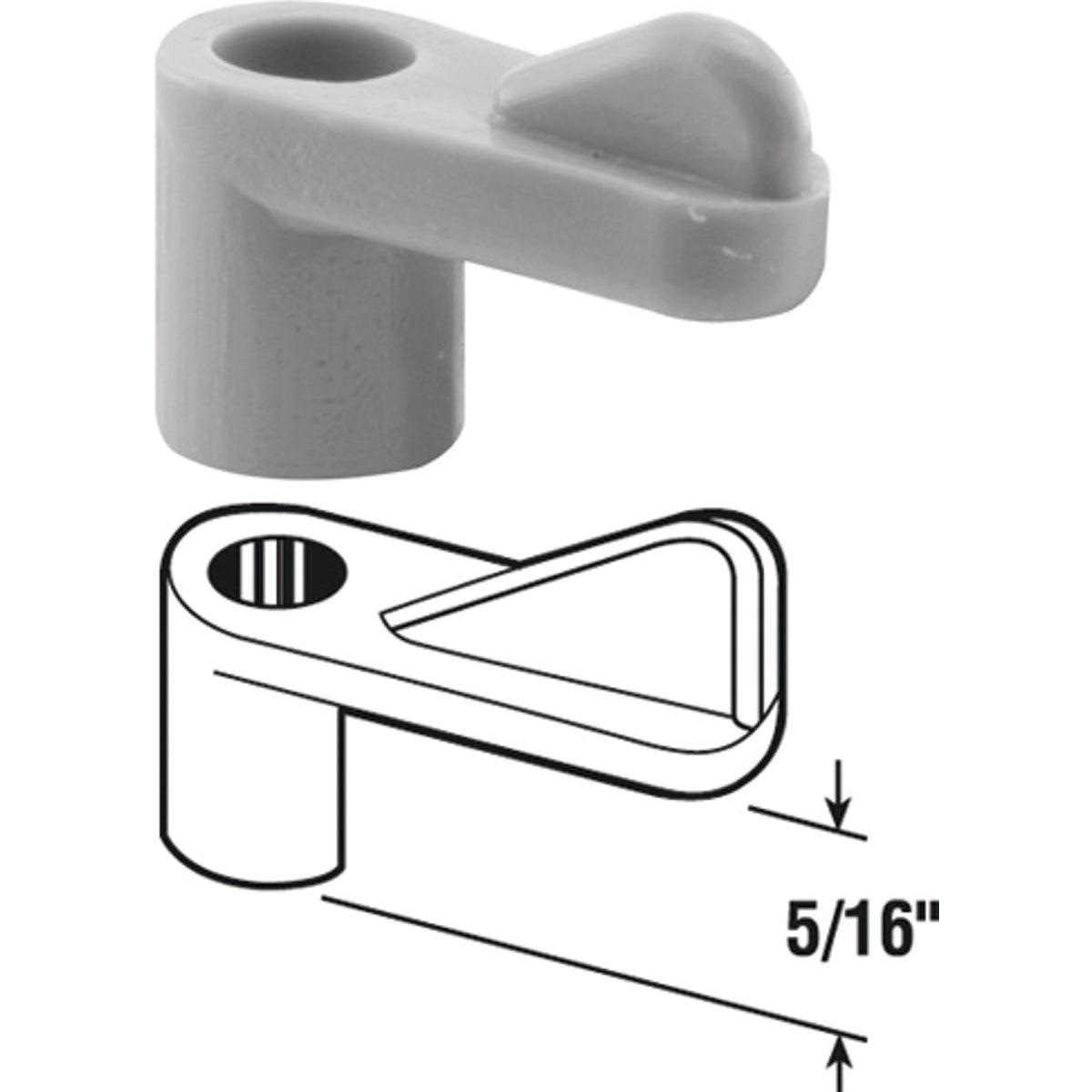 "5/16"" PLASTC SCREEN CLIP - 182932-5 by Prime Line Products"