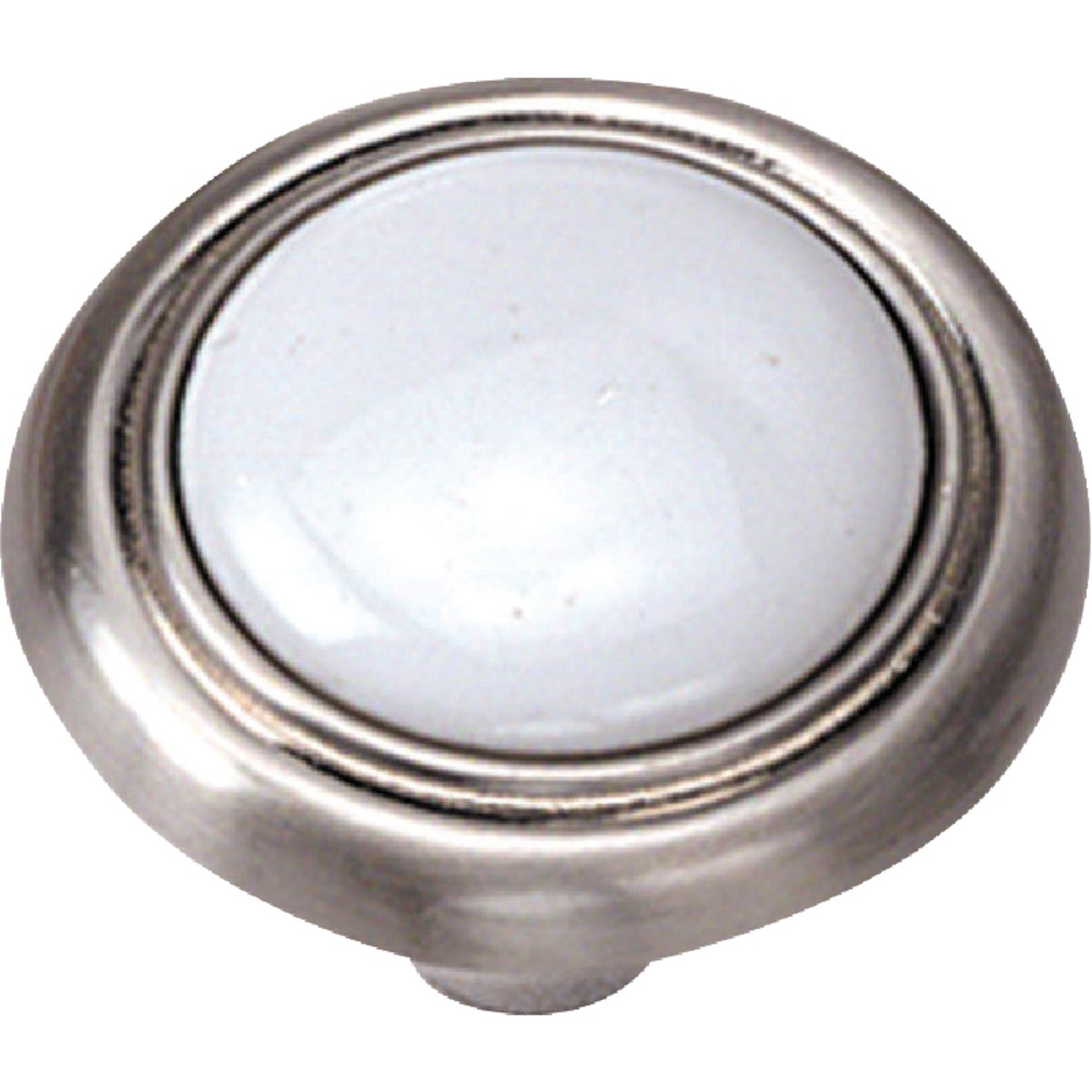 1-1/4 WHT CHROME KNOB - 15438 by Laurey Co