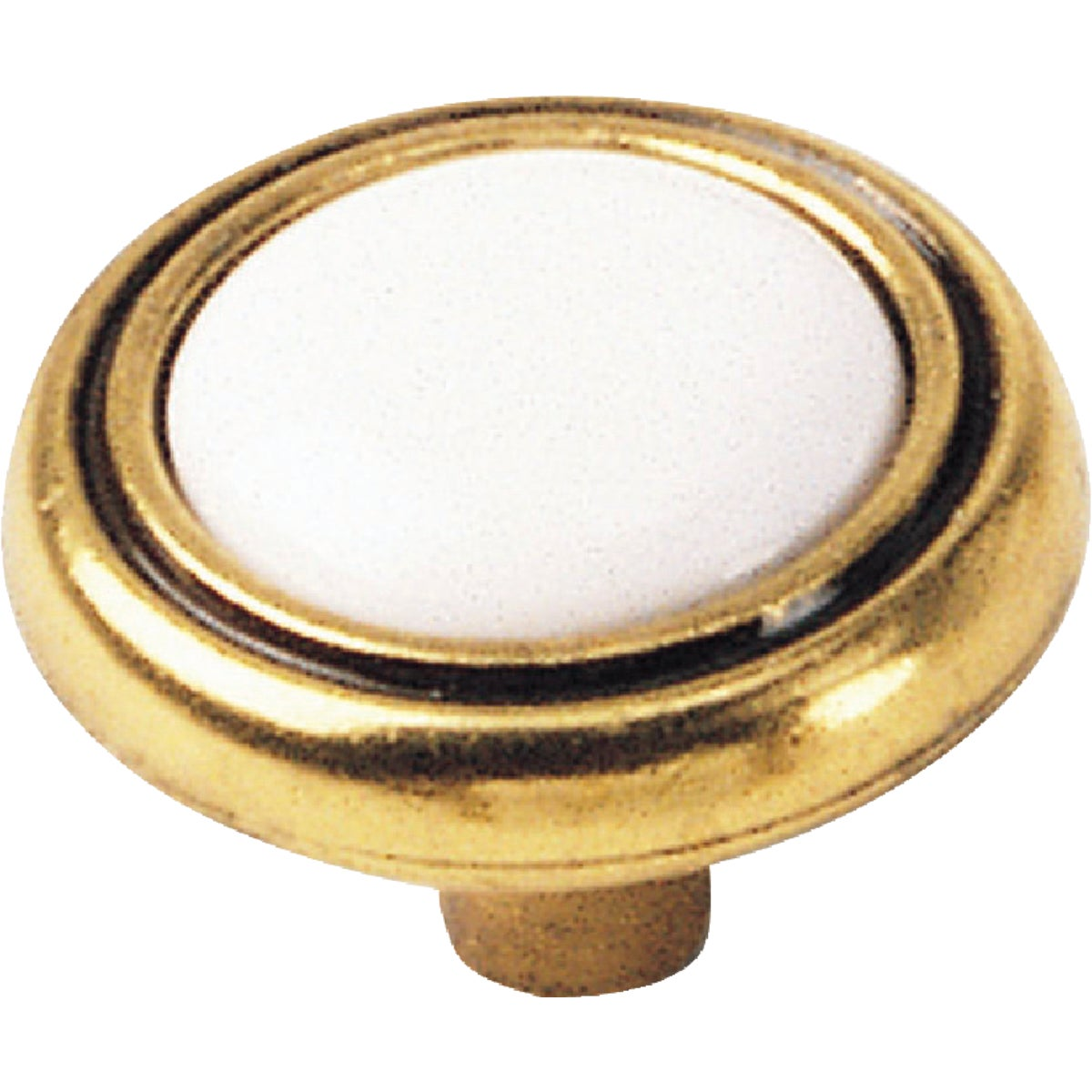 WHT ANTIQUE BRASS KNOB - 15441 by Laurey Co