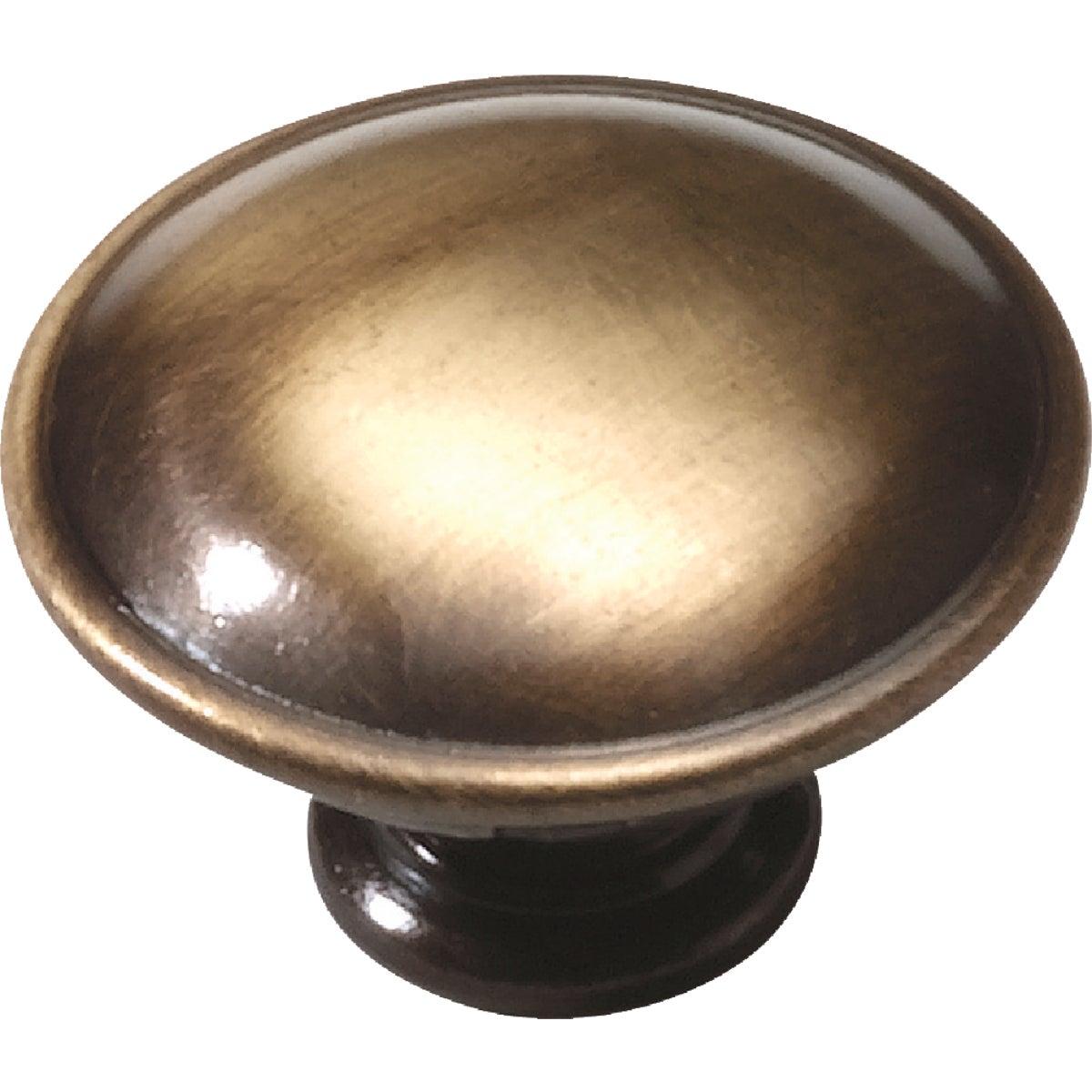 1-1/4 ANTQ BRASS KNOB - 22105 by Laurey Co