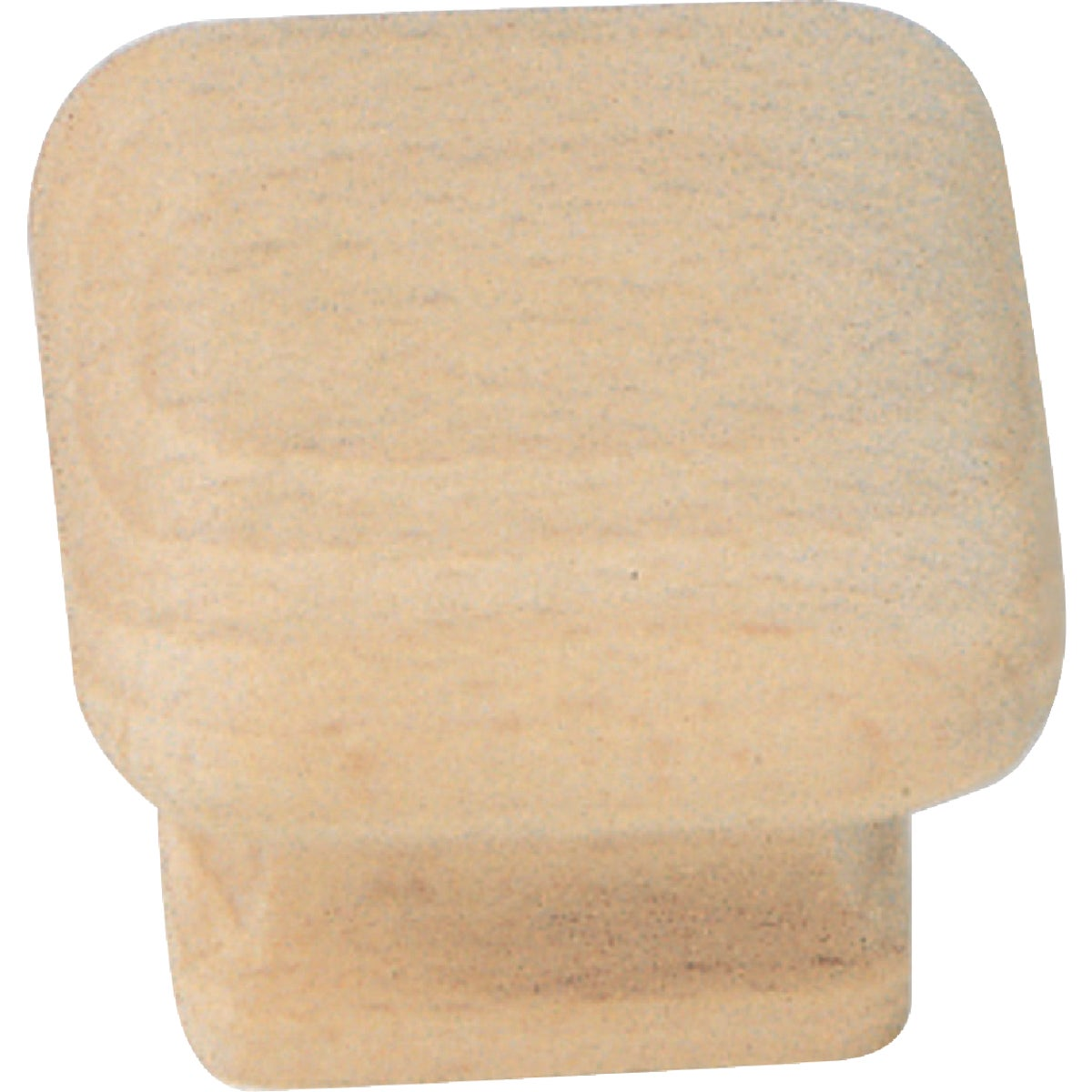 "1-1/2"" WOOD SQUARE KNOB - 32301 by Laurey Co"