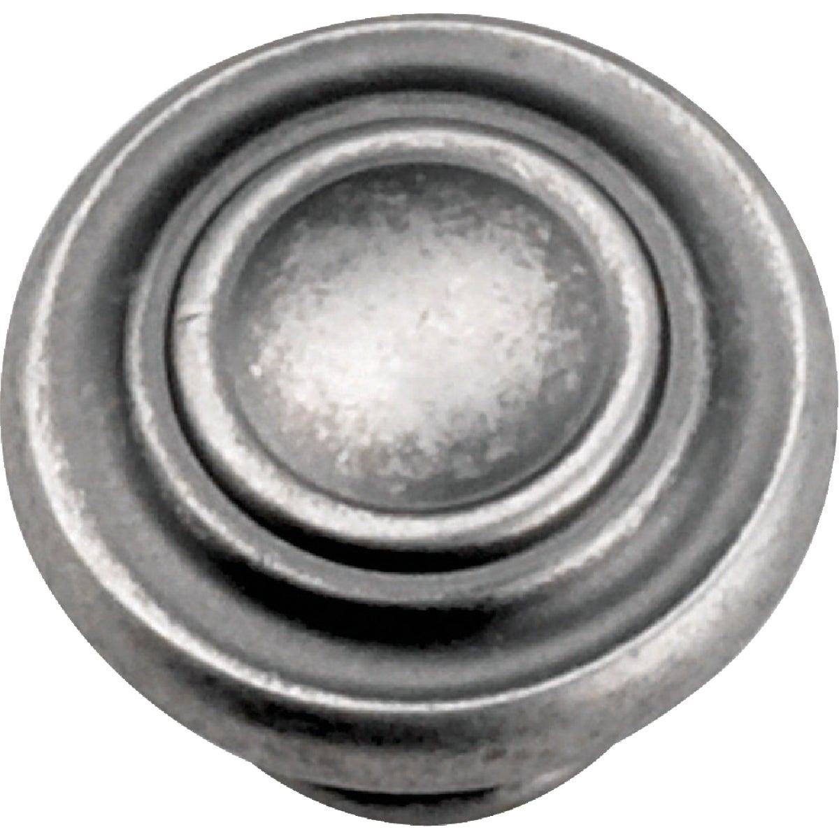 "1-3/8"" ANTQ PEWTER KNOB - 51806 by Laurey Co"