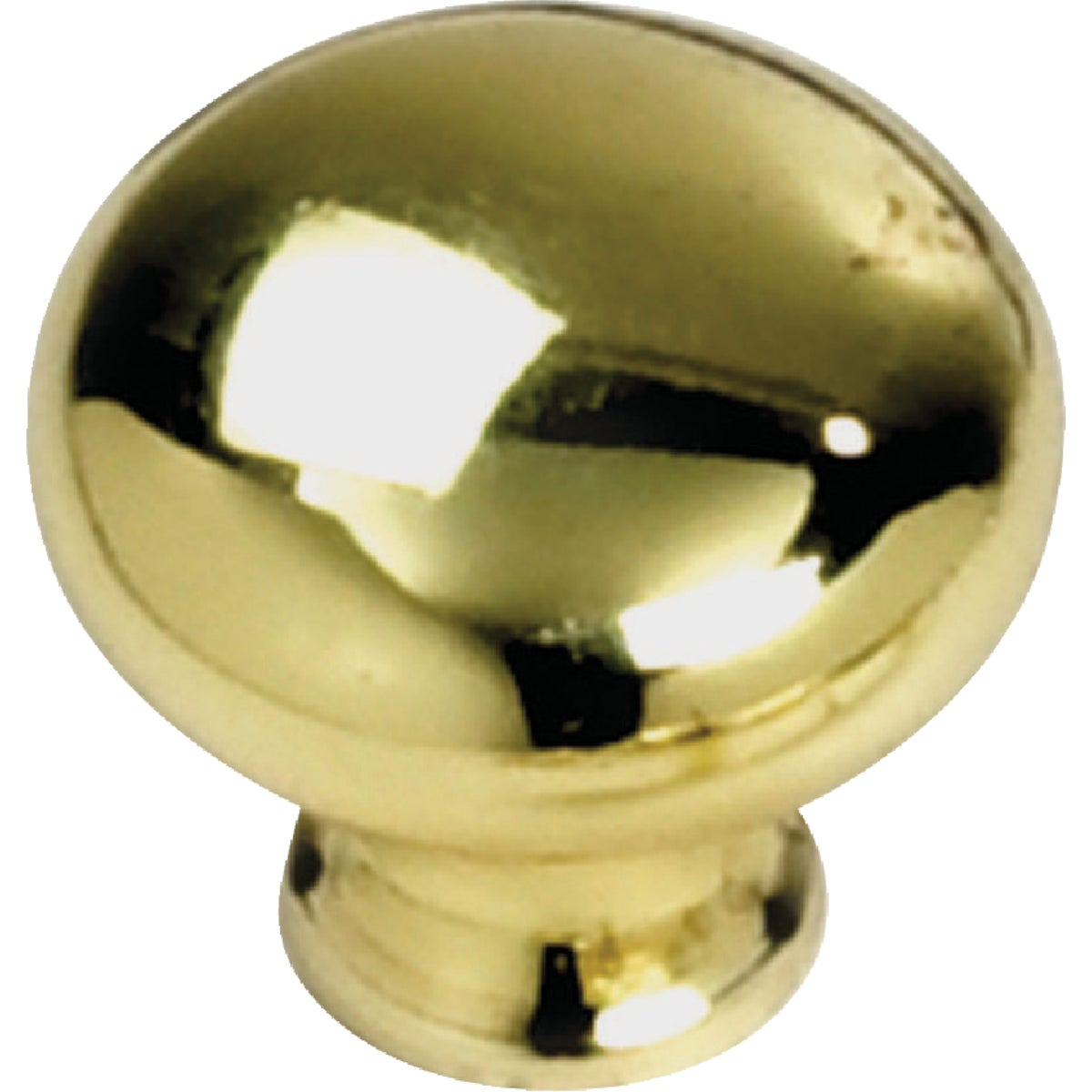 "1-1/4"" POLISH BRASS KNOB - 54437 by Laurey Co"
