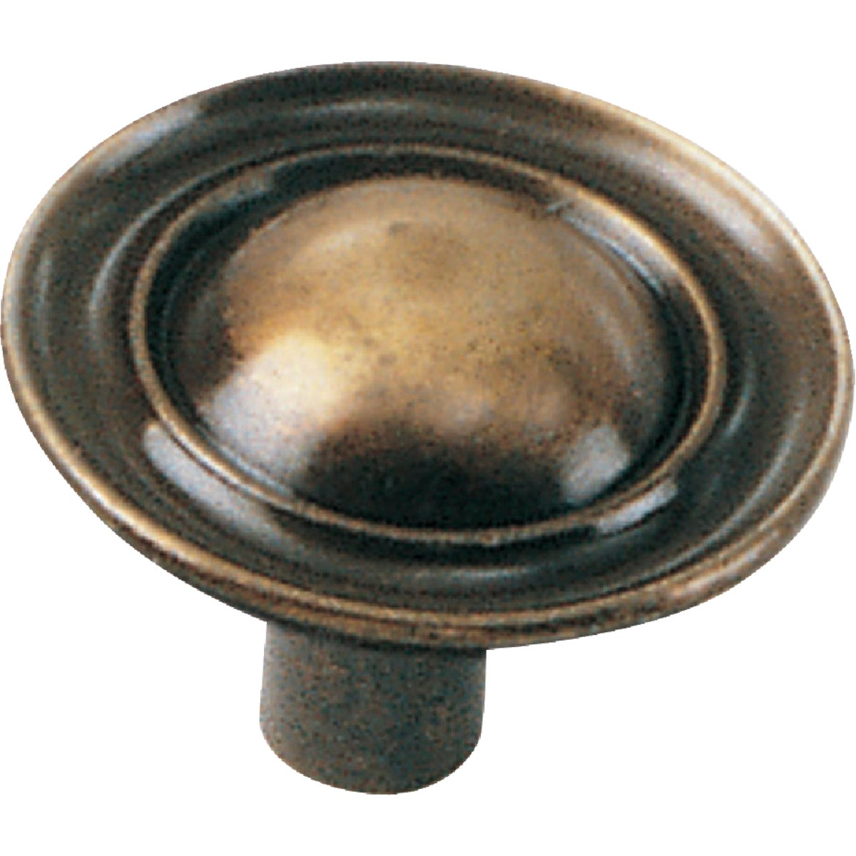 "1-1/4"" ANTQ BRASS KNOB - 75705 by Laurey Co"