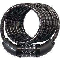 Wordlock 5' BLACK BIKE LOCK CL-411-BK