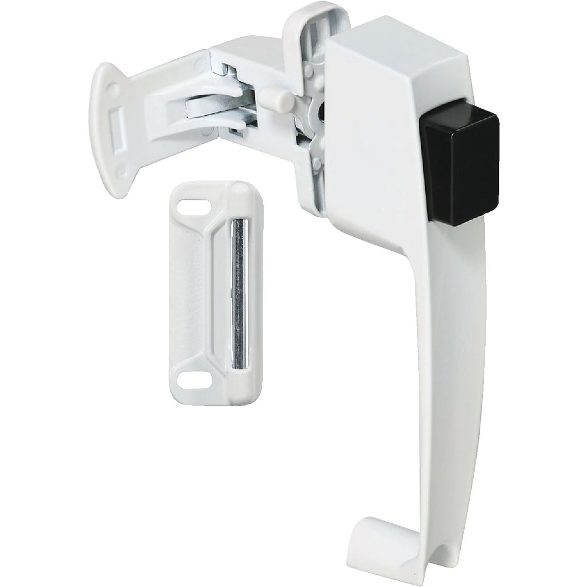 WHITE PUSHBUTTON LATCH