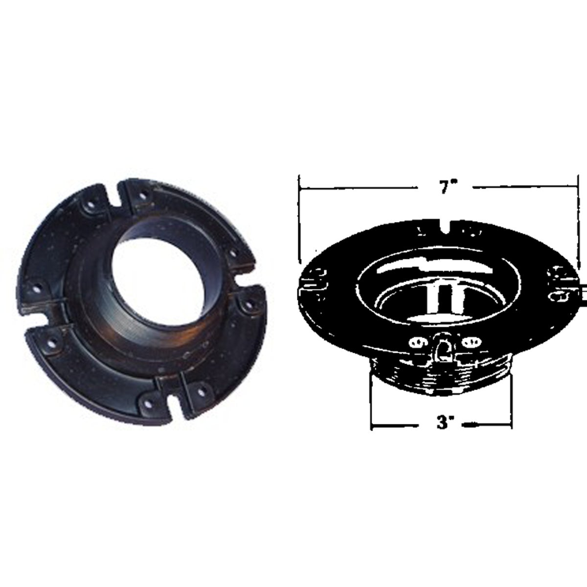 United States Hdwe. COMMODE FLANGE P-110C