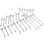 20-Piece Peg Hook Set