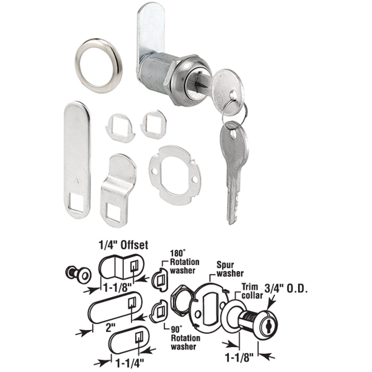 "13/16"" DOOR/DRAWER LOCK"