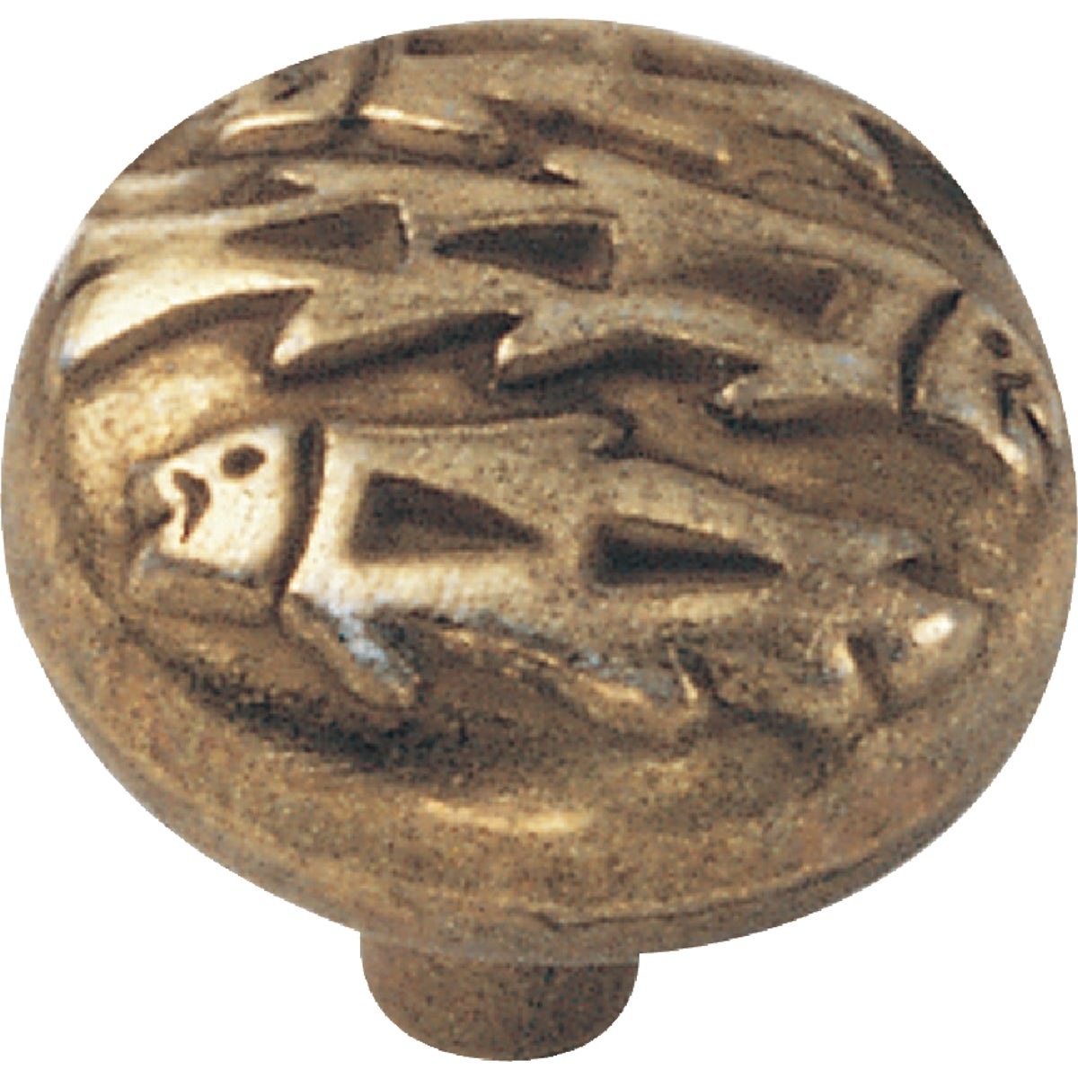 "1-1/2"" LIGHT BRASS KNOB - 53634 by Laurey Co"