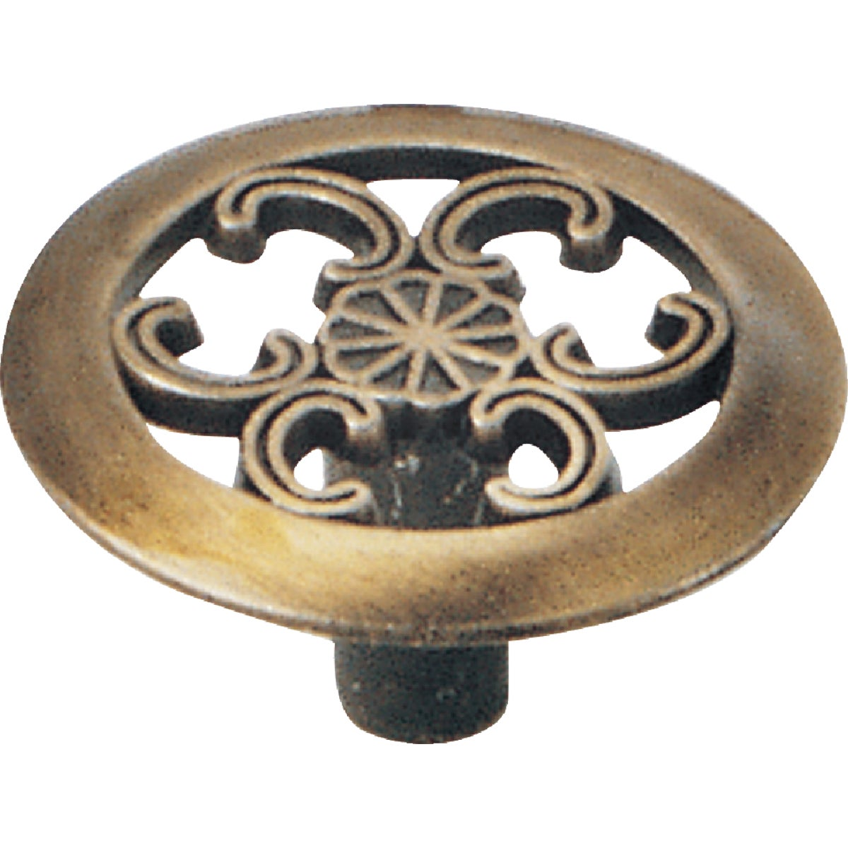 "1-1/2"" ANTQ BRASS KNOB - 79005 by Laurey Co"