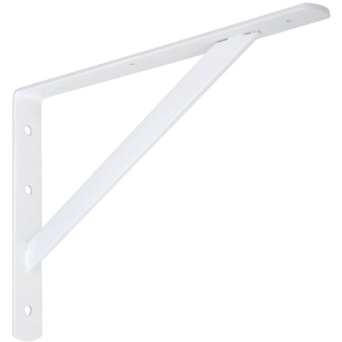 "12"" WHT HD SHELF BRACKET - N301630 by National Mfg Co"