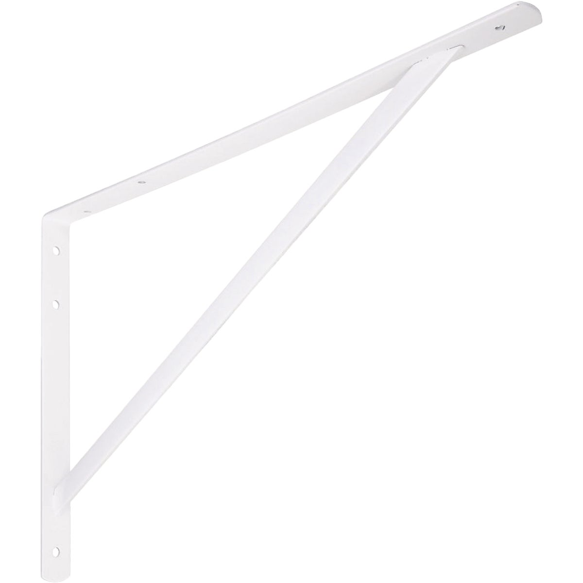 "20"" WHT DH SHELF BRACKET - N260604 by National Mfg Co"