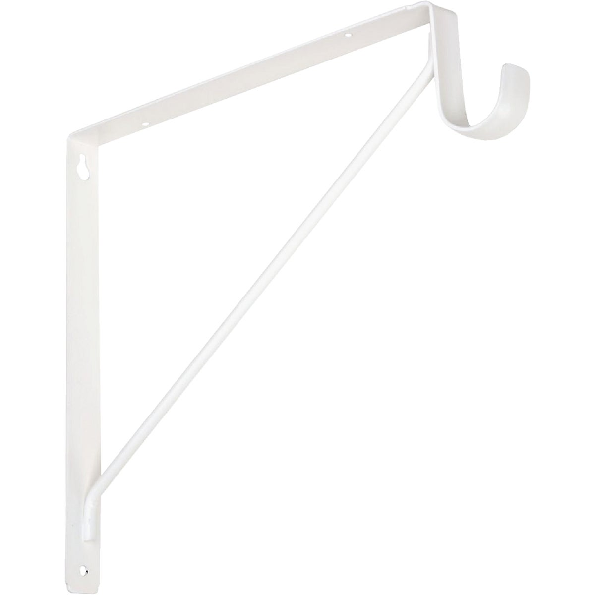 WHT SHELF & ROD BRACKET - N224428 by National Mfg Co