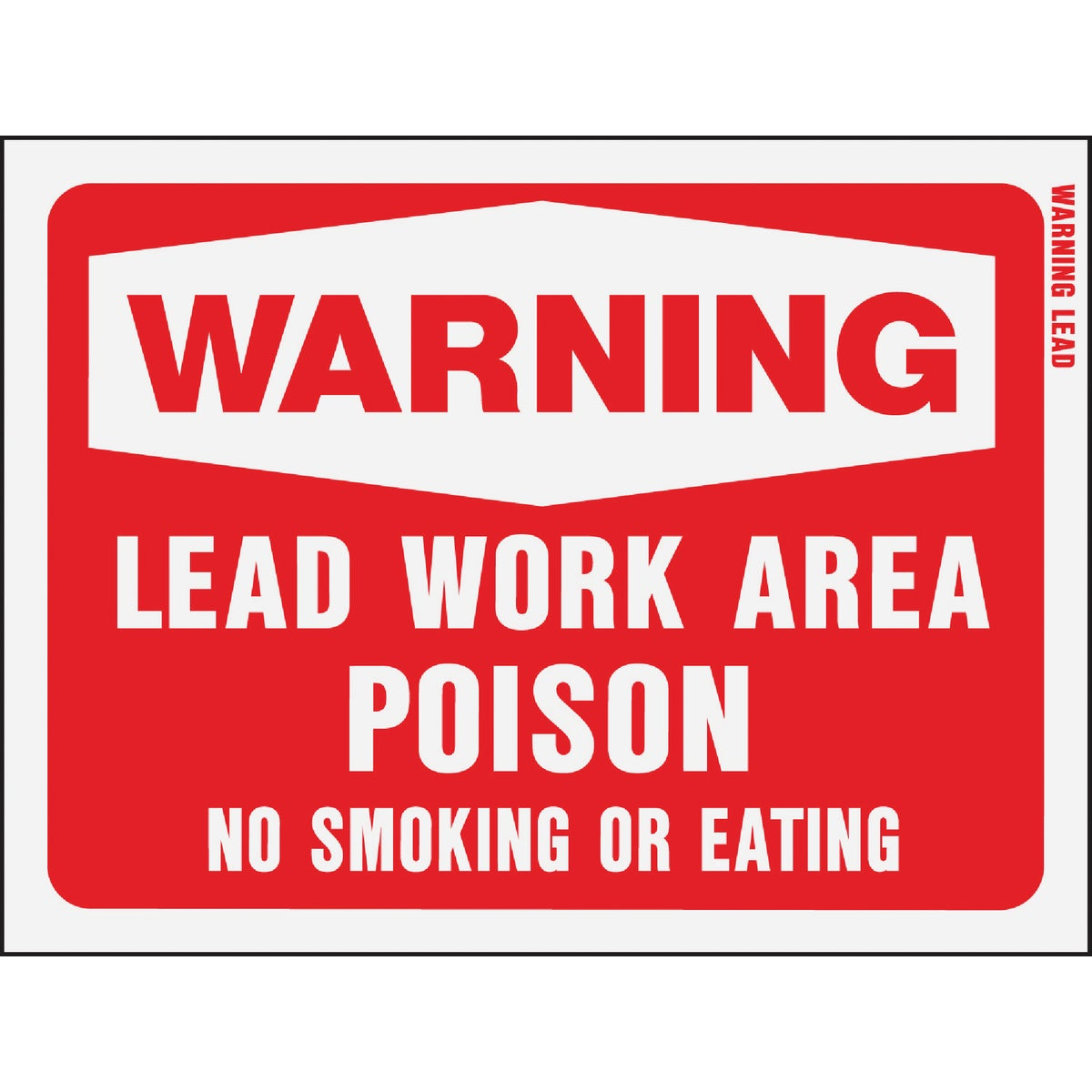 "9""X12"" WARN LEAD SIGN - 20647 by Hy Ko Prods Co"