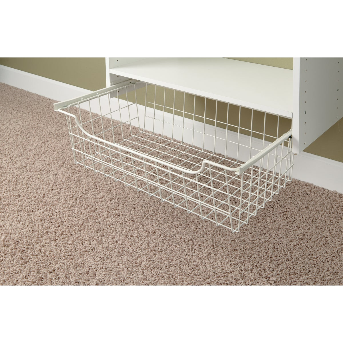 "8"" WHITE WIRE BASKET - 1308 by The Stow Company"