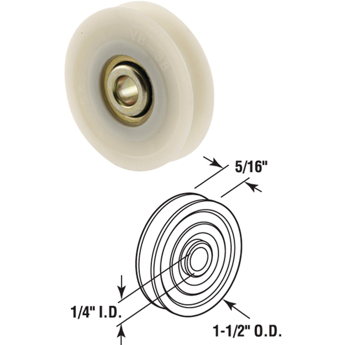 PATIO DOOR ROLLER - 13562 by Prime Line Products