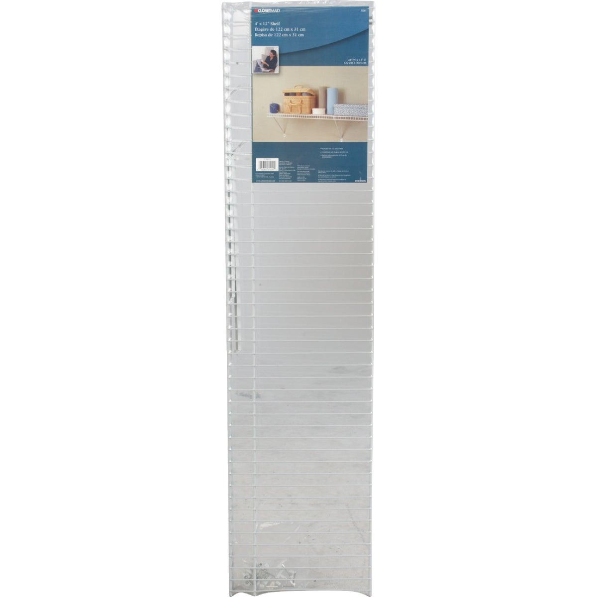 ClosetMaid 4 Ft. W. x 12 In. D Ventilated Shelf Kit, White