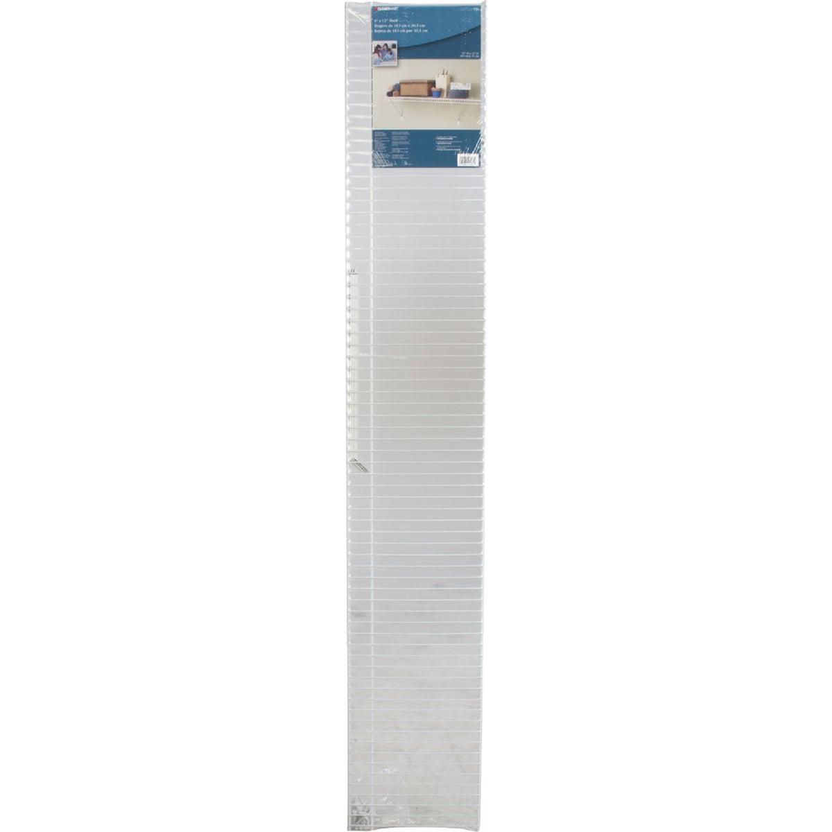 """6'X12"""" LINEN SHELF KIT - 106100 by Closetmaid"""