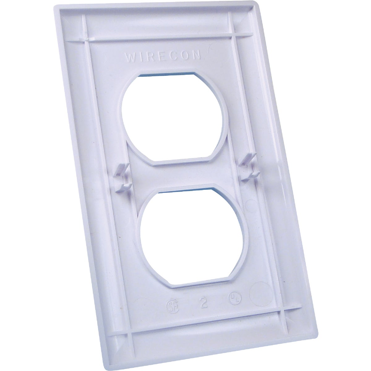 WH RECEPTACLE GANG PLATE - E-163C by U S Hardware