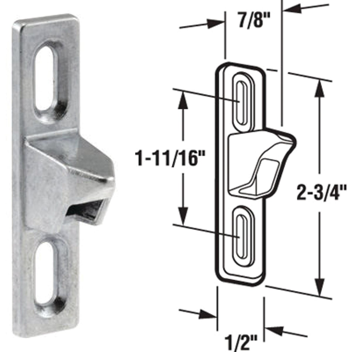 PATIO DOOR STRIKER - 14504 by Prime Line Products