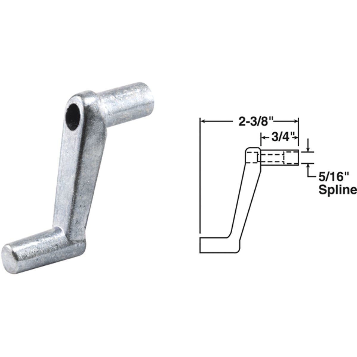 "3/4"" CASMNT CRANK HANDLE - 22254 by Prime Line Products"