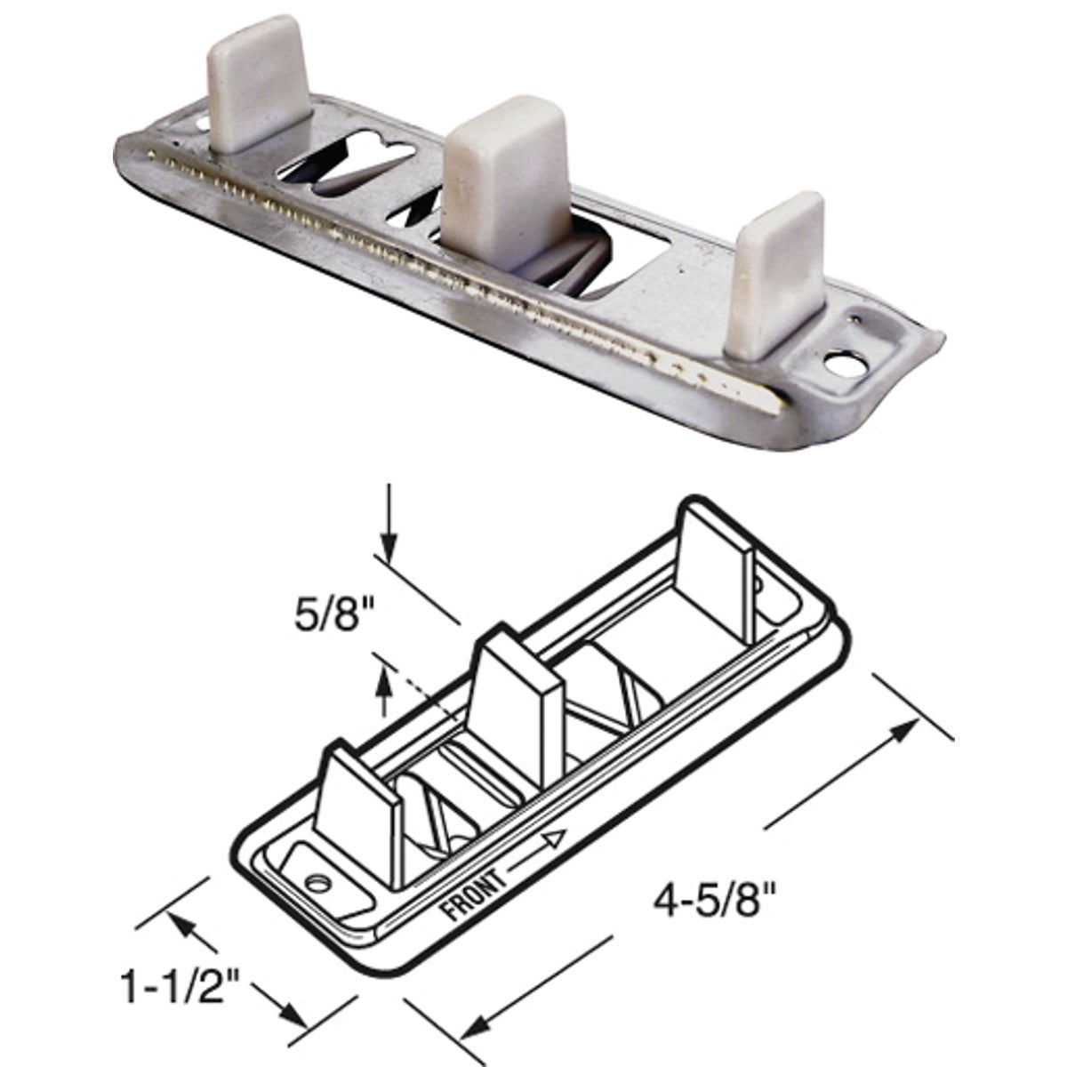 ADJUSTABLE FLOOR GUIDE - 16217 by Prime Line Products