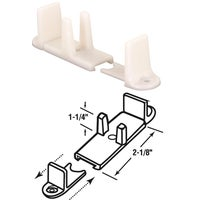 Slide-Co Adjustable Nylon Base Bypass Door Bottom Guide, 163236