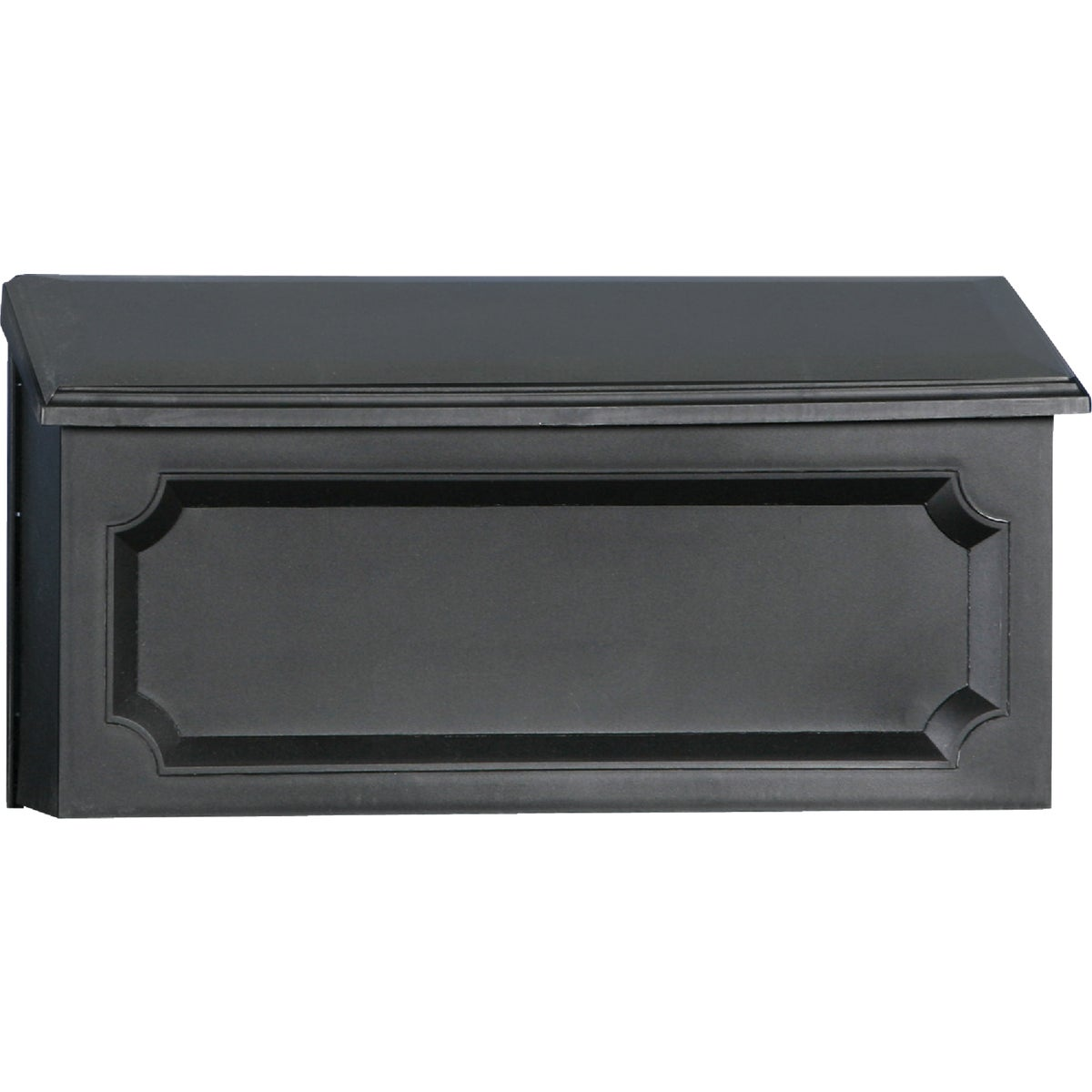 BLK HORZNTL POLY MAILBOX - WMH00B04 by Solar Group