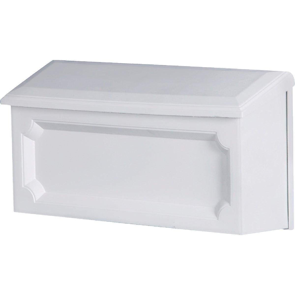 Wht Horzntl Poly Mailbox