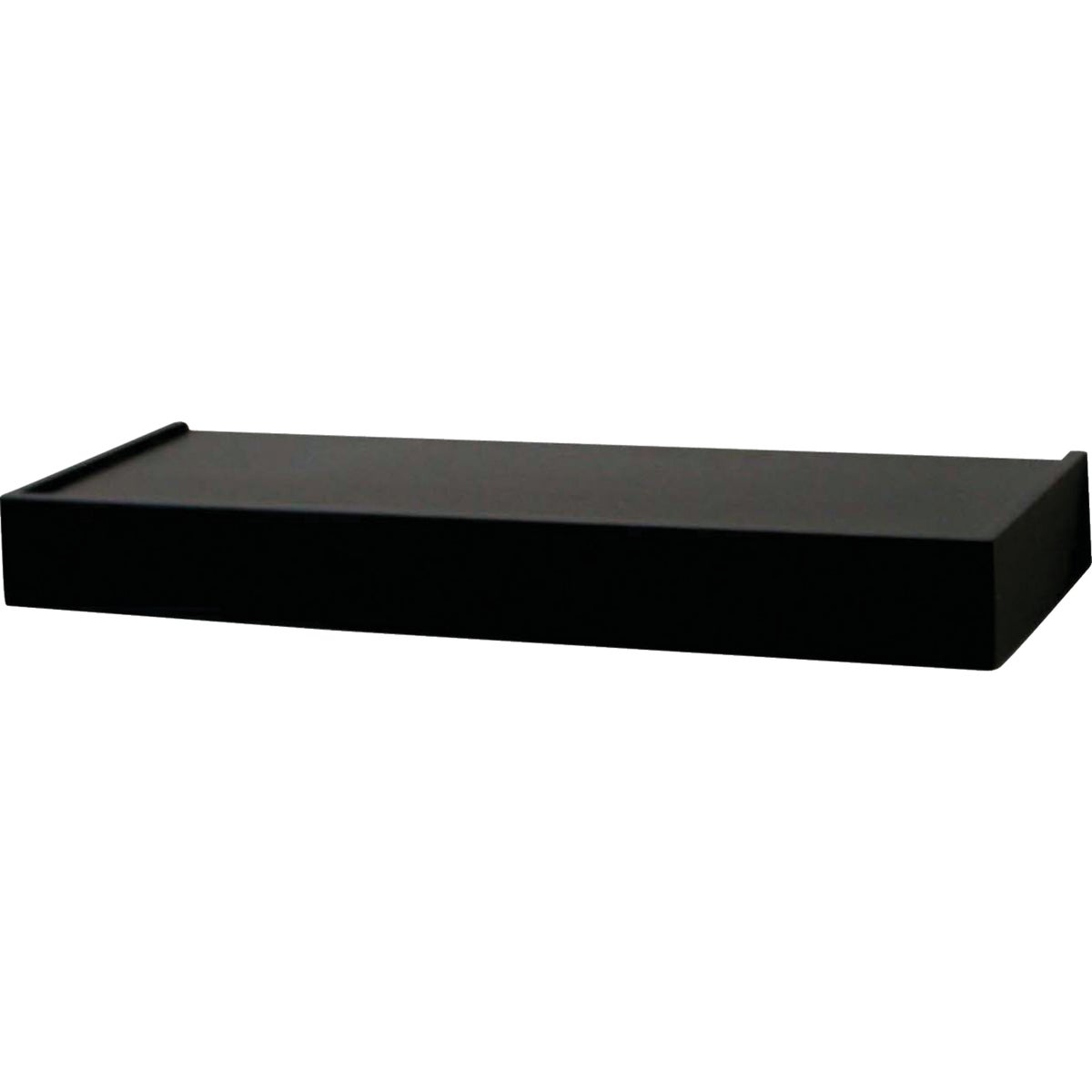 "24"" BLACK FLOATING SHELF - 0140-24BK by Knape & Vogt Mfg Co"