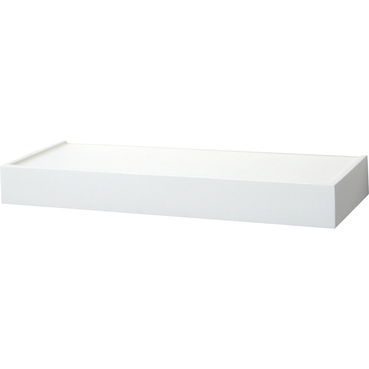 "24"" WHITE FLOATING SHELF"
