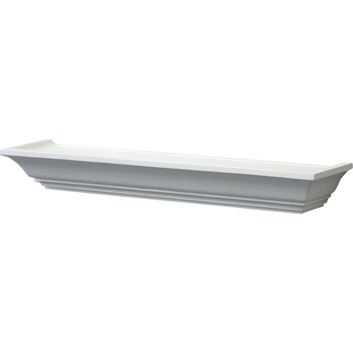 "24"" WHITE MANTEL SHELF - 0149-24WT by Knape & Vogt Mfg Co"