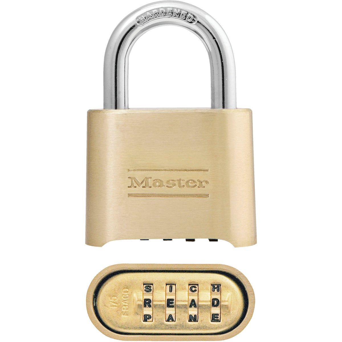 "2"" BRASS WORD PADLOCK"