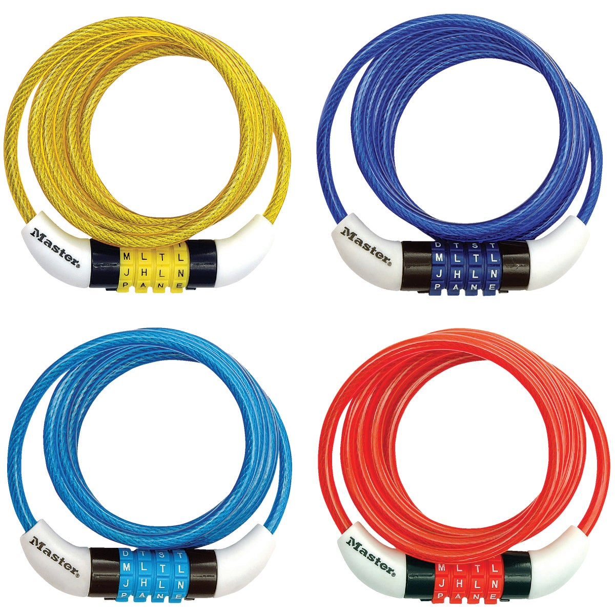 4' BLUE CABLE LOCK-WORD