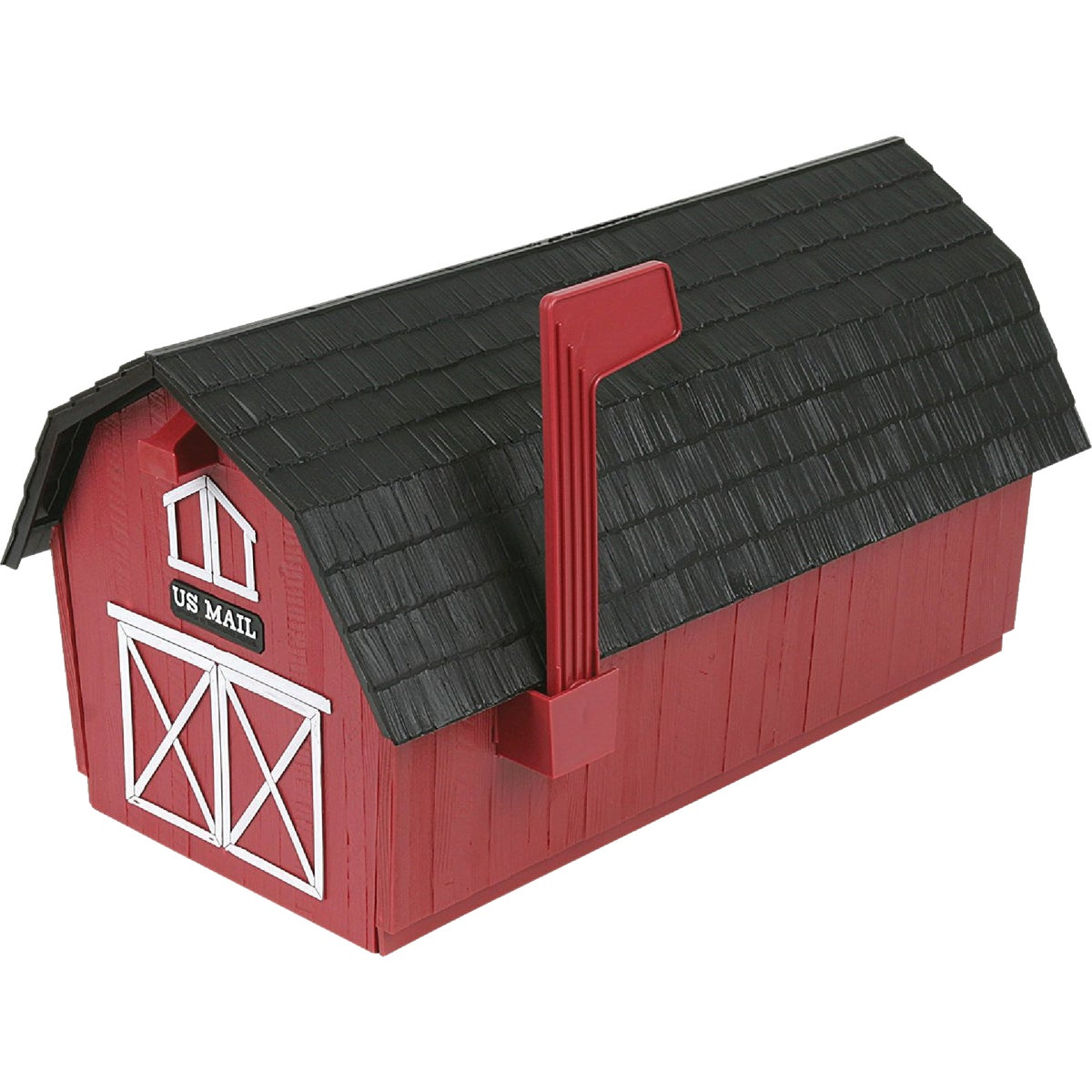 Red Barn Poly Mailbox