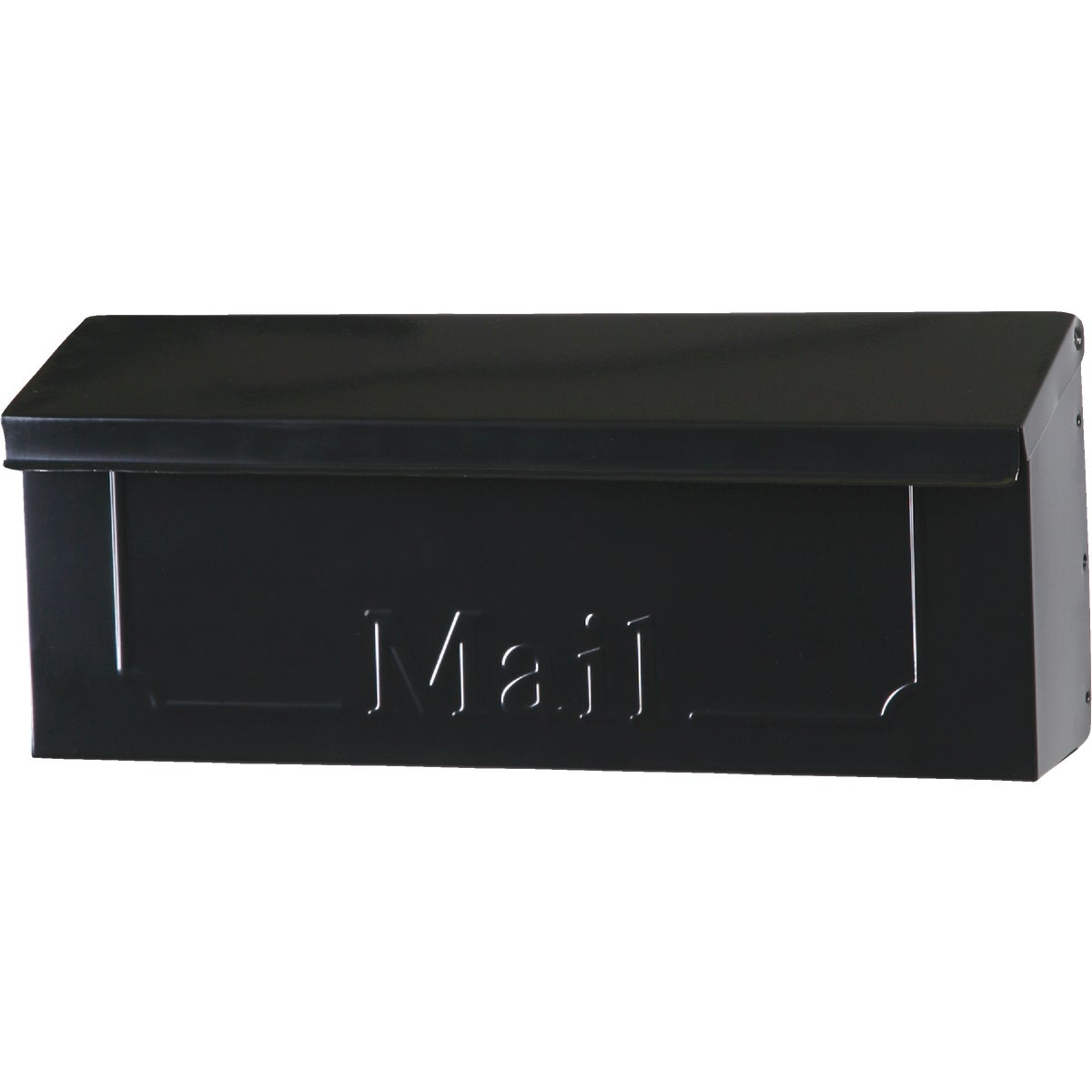 BLK HORIZ WALL MAILBOX - THHB0000 by Solar Group