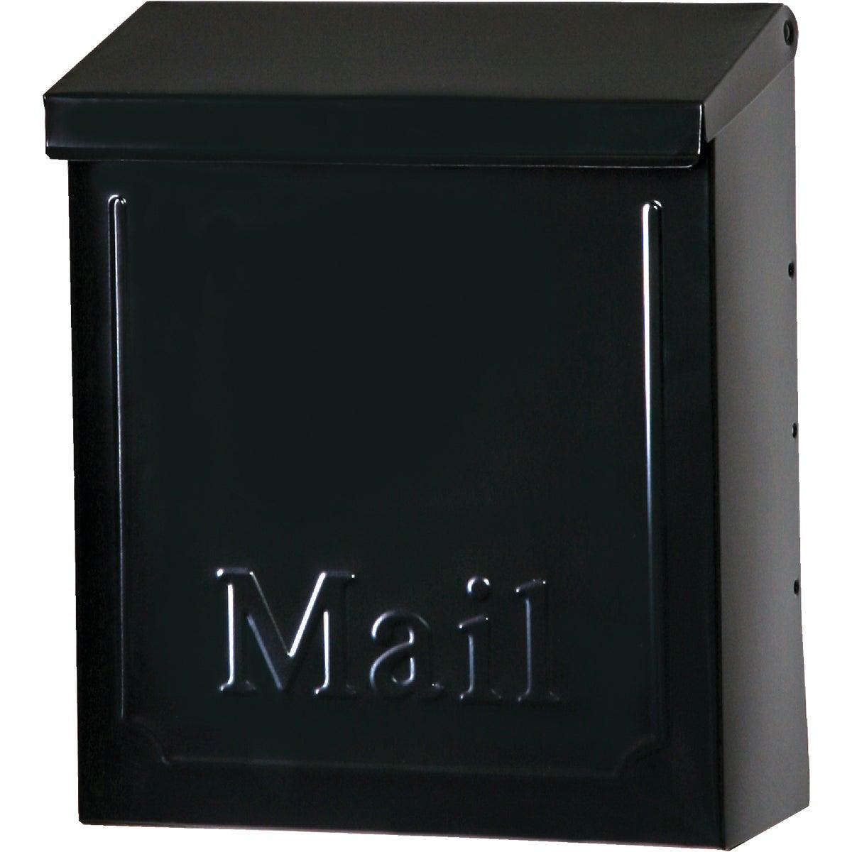 Blk Vert Wall Mailbox
