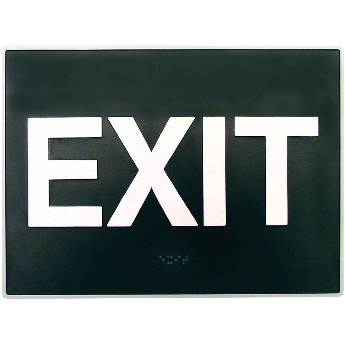 8X11 BRAILLE EXIT SIGN